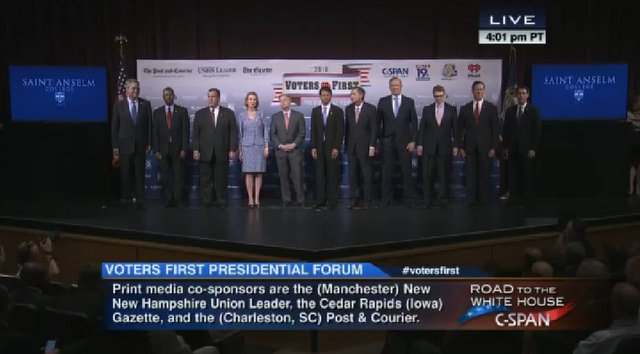 """The 2016 Republican Candidates """"Voters First Forum"""""""