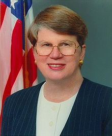 Former Attorney General Janet Wood Reno, July 21, 1938 – November 7, 2016